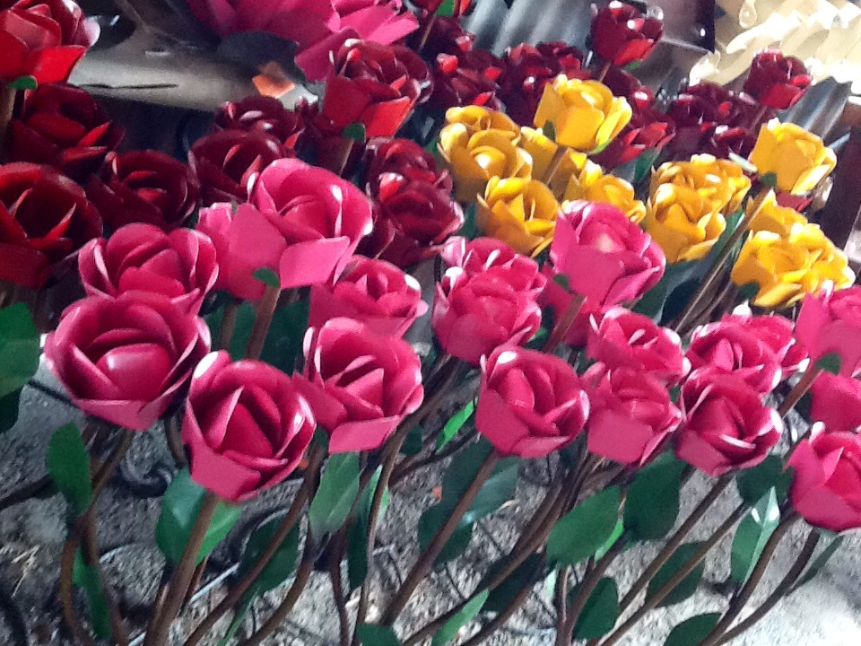 Average Cost Of Wedding Flowers In Los Angeles : Metal flowers for gardens the best ideas