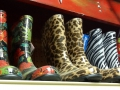 Assorted colored rubber boots at Standley Feed
