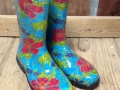 Floral Rubber Boots