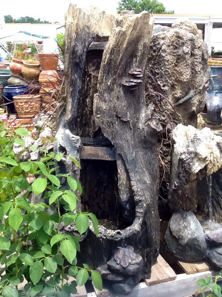 Large Log Fountain