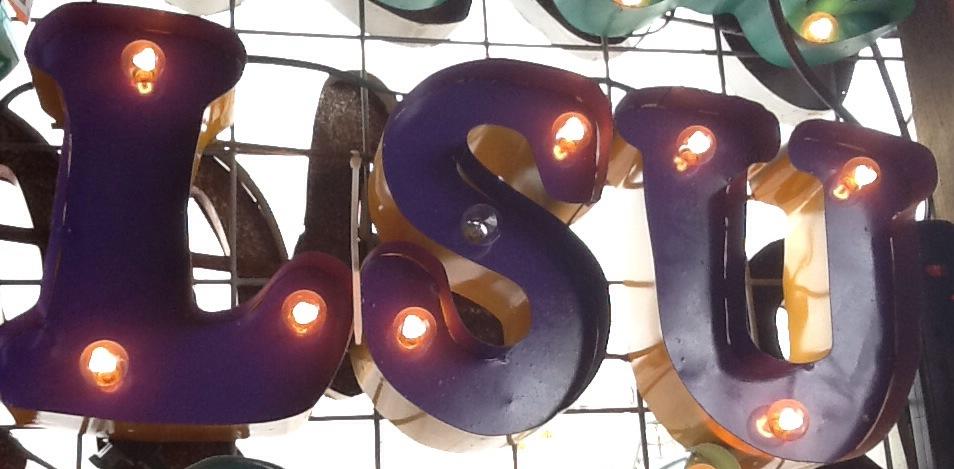 Lighted LSU Sign