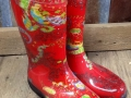 Red Rubber Boots at Standley Feed
